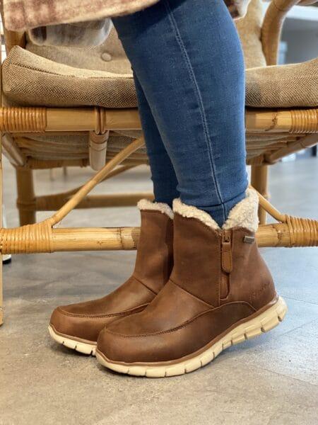 Skechers Synergy Modern Femme damestøvle vinterstøvle 44994 støvle brun nord sko sygnergy