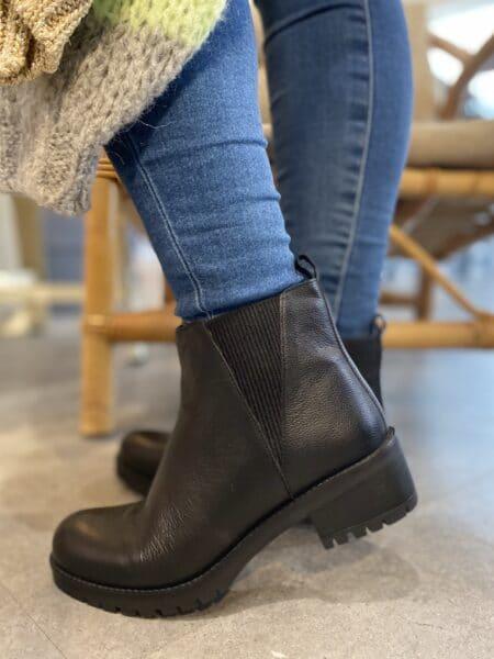 Skechers støvle Lugnut New Fav 167062 grå dame nord sko blokhus hune