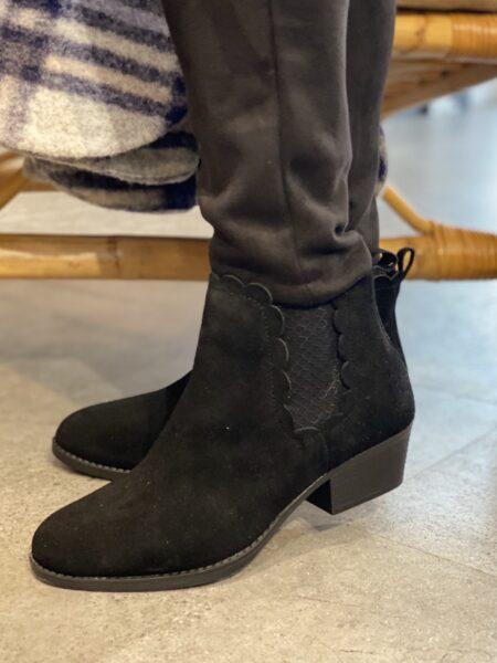 Womens Støvle Lasso Diver Sort damestøvle med hæl 49954 black nord sko blokhus hune stand
