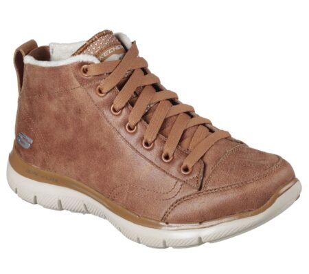 Skechers womens læderstøvle brun