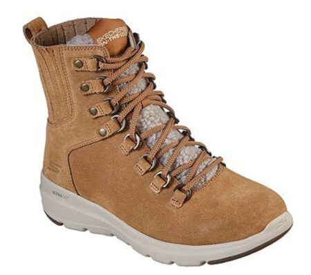 Skechers womens glacial ultra crusade brun foeret støvle