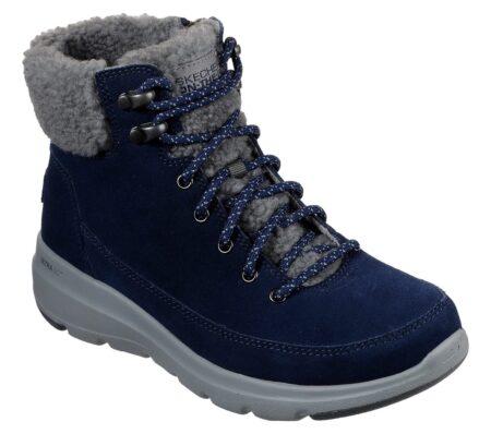 Skechers On The Go Glacial vinterstøvle støvle damestøvle 16677 nord sko blokhus strand hune dame blå grå