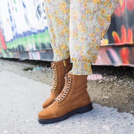 Copenhagen Shoes Ally Suede Cognac Guld