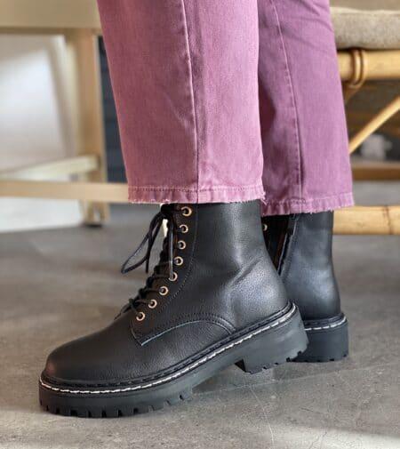 Duffy støvler damestøvler vinterstøvler Nordsko Hune Blokhus hvid sort