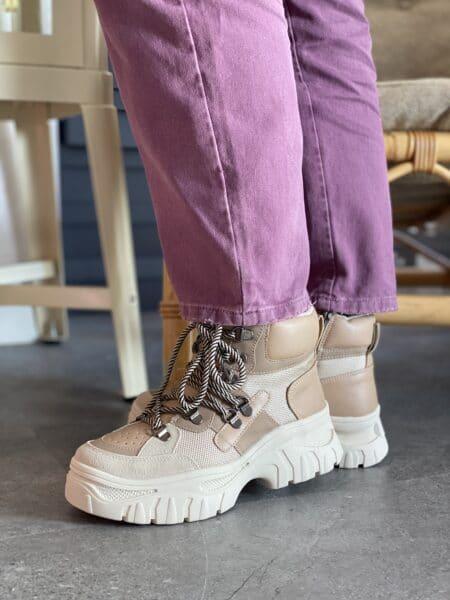 duffy vinterstøvle i smarte sarte farver og kraftige chunky såler nord sko blokhus strand hune