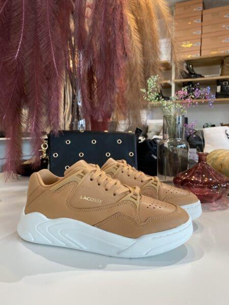lacoste sneakers dame sko tan brun court slam nord sko blokhus