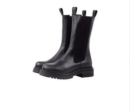 Cashott høje støvler sorte delfi Black læder Blokhus Nordsko Hune