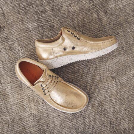 Nature shoes guld sko
