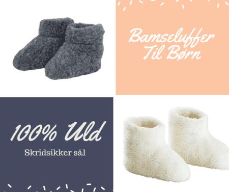 BAMSEFUTTER TIL BØRN HJEMMESKO TIL BØRN I ULD