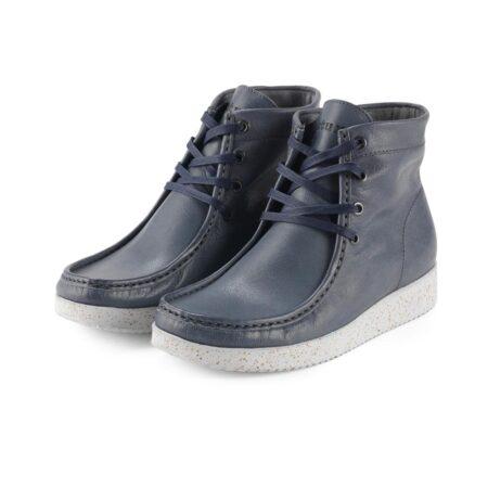 Nature asta veg leather nordic bluelæder støvle