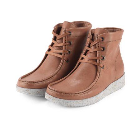 Nature asta veg leather sort læder støvle
