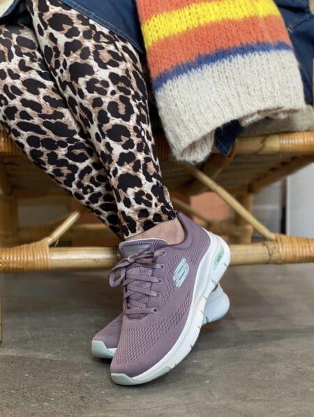 skechers sneakers arch fit lavendel 149057 dame sko sol strand blokhus hune nord sko