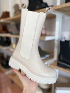 cashott picasso hvid læder støvle