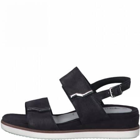 Tamaris sandal med velcro navy