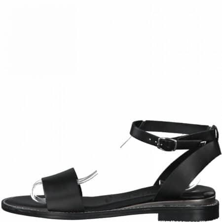 tamarin sort flad læder sandal 1-28260-26-001