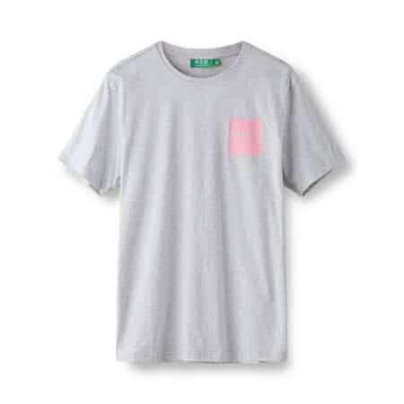 h2o t-shirt 100158/Lt.Grey Mel Sachet pink lysgrå med pink