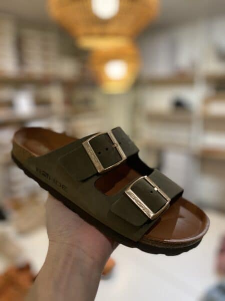 Rohde bio sandal grøn med læder sål