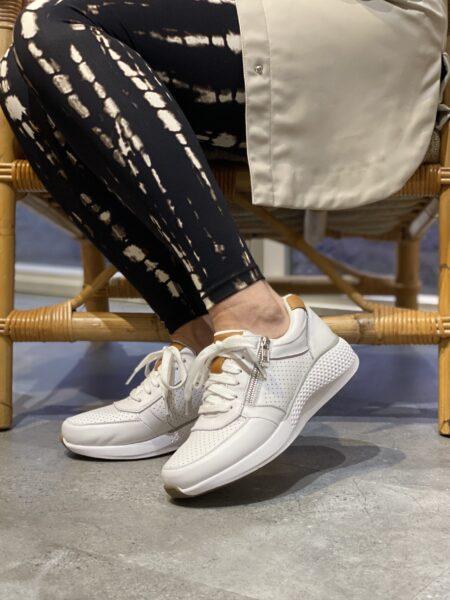 green comfort dolphin læder hvid sneakers sneakers med lynlås