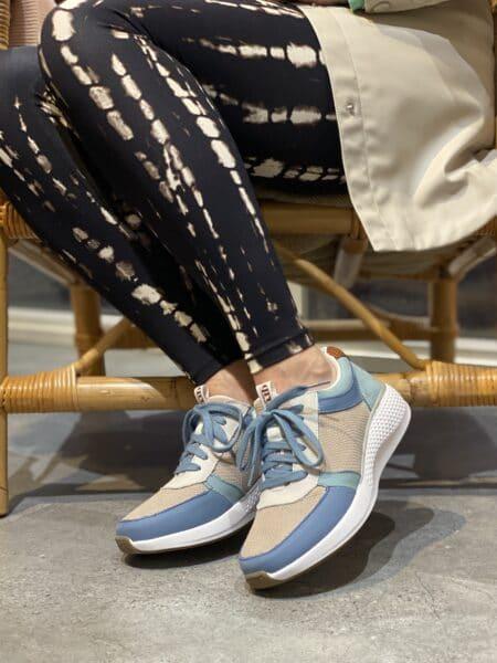 green comfort dolphin blål sneakers