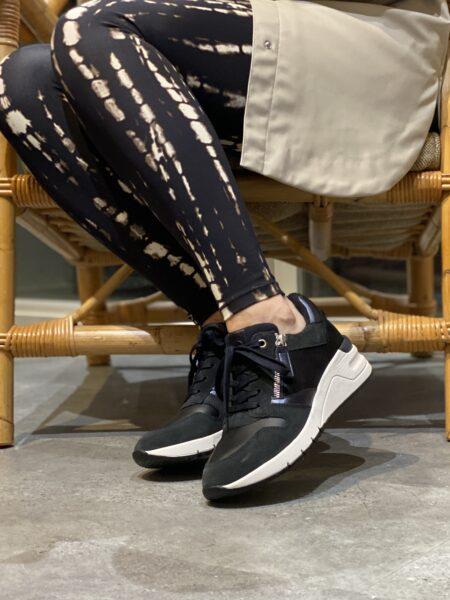 tamaris plateau sneakers blå med lynlås