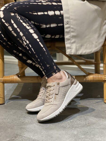 Tamaris beige sneakers høj hæl plateau sneakers 1-1-23702-26-426