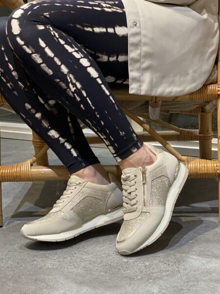 Tamaris sneakers med lynlås råhvid ivory 1-23603-26-430