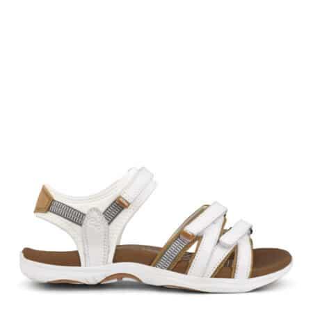 Green Comfort sandal White