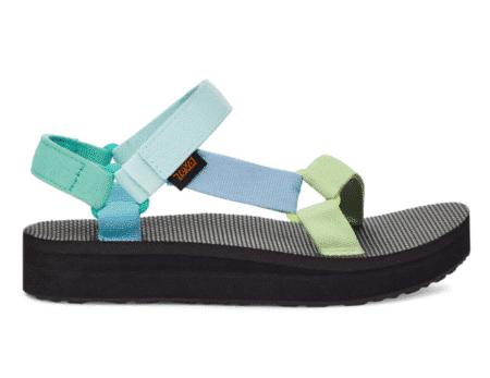 teva midform universal light green plateau sandal