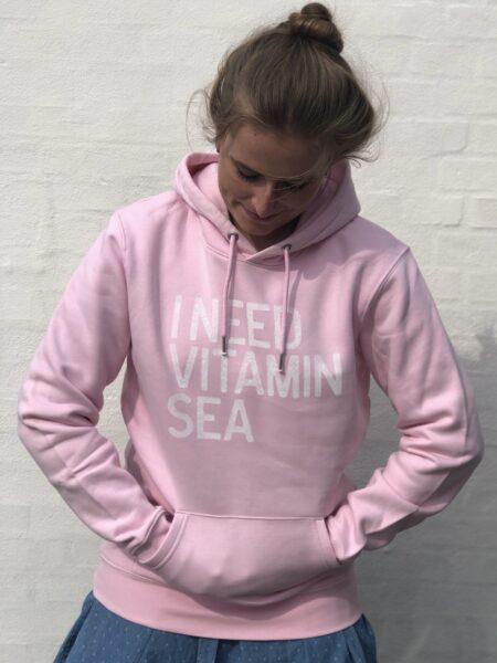 hjemhavn lyserød hoodie