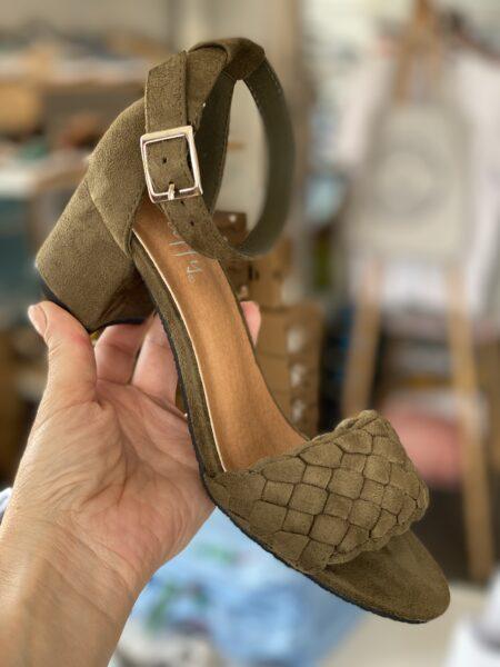 sandaler med hæl grønne