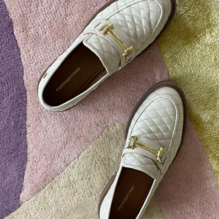Copenhagen Shoes embrace Quilted Beige cs5757