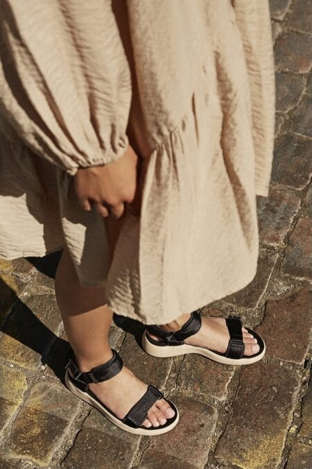 woden wl926 sandal med velcro sort