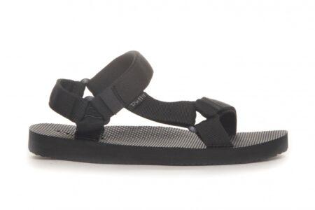 sandal med regulerbare remme sort trekking