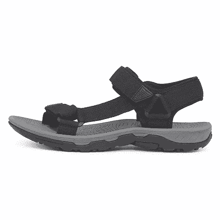 sort herre sandal med velcro