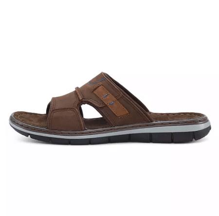 comfort sandal herre læder slip in