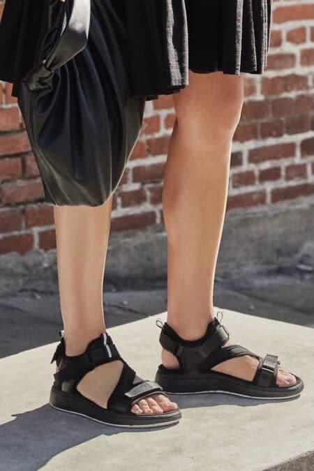 woden wl929 sort sandal