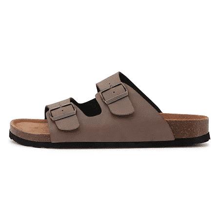 billig bio sandal til mænd birkenstock taupe lysbrun