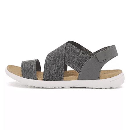 grå sandal med elastik
