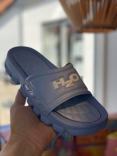 H2O pastel blue badetøffel
