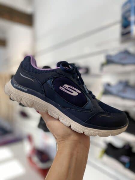 Skechers Flex Appeal 4.0 True Clarity navy lavender waterproof vandtætte sneakers 149299/NVLV 149299 Nordsko Blokhus Hune