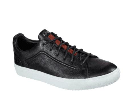 skechers sort læder sko mark nanson pæn herresko læder