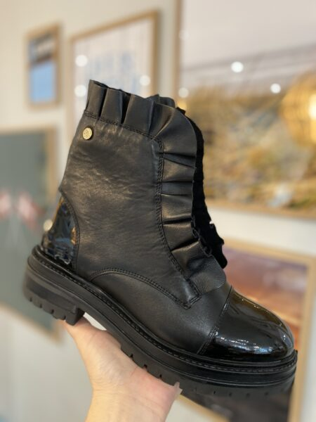 Copenhagen Shoes støvler flæse Josefine Valentin læder boots sort black CSJV5546 Nordsko Hune Blokhus