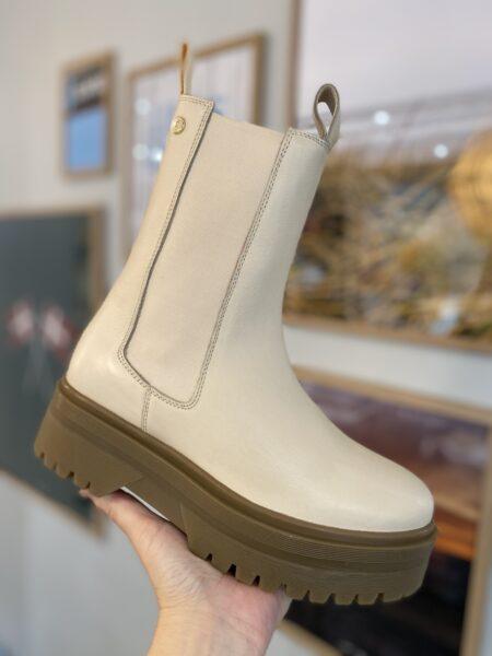 copenhagen shoes going råhvid støvle med elastik I siden beige støvle
