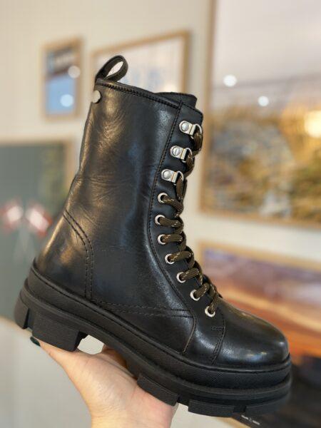 PREORDER copenhagen shoes sort læderstøvle med snøre Morning Walk