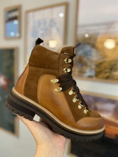 Copenhagen Shoes Hispters Cognac foer brun støvle støvler vinterstøvler CS5626 Nordsko Hune Blokhus