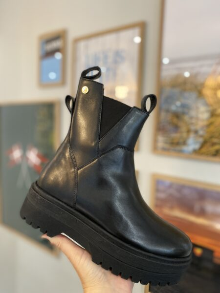 copenhagen shoes clouds sort kort læderstøvle