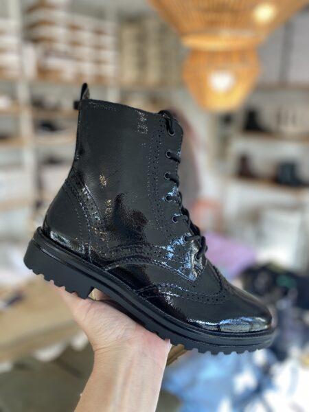 tamaris lak støvle lack støvle med snøre 25209 blokhus