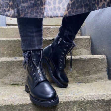 vilma copenhagen shoes sort læderstøvle