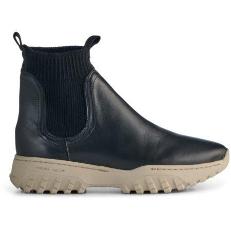 Woden læder støvle med elastik Lucy Track Leather is a slip-on sock
