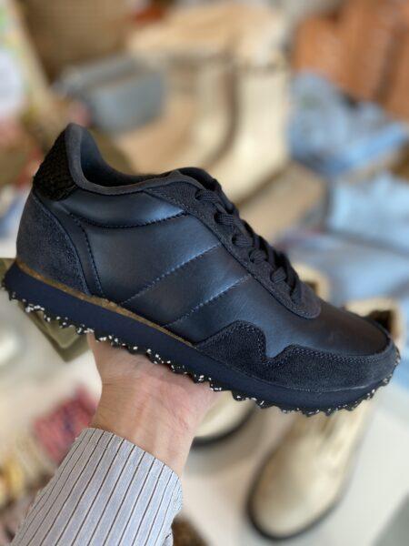 woden metallic nylon sneakers korksål navy
